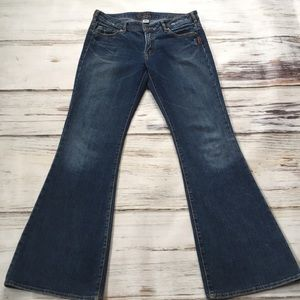 Silver Jeans Distressed Denim Bootcut Prism 31 33